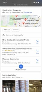 Directory Listing Construction Industry Example